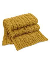 Cable Knit Melange Scarf
