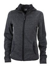 Ladies` Knitted Fleece Hoody