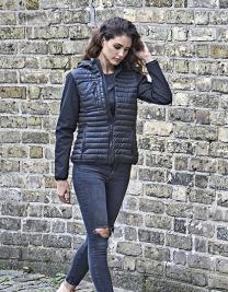 Ladies Hooded Crossover Jacket